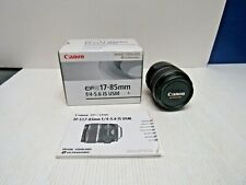 Canon EFS 17-85mm f/4-5.6 IS USM Lens w/Original Box and Manual