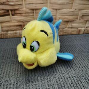 2001 Disney Flounder Yellow/Blue Fish Plush Toy The Little Mermaid Ariel Vintage