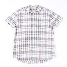 VGC Vintage WRANGLER White Check Shirt | Mens L | Cowboy Western Retro Plaid
