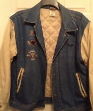 Disney Store Tigger Team Denim Jean Letterman Varsity Jacket Size M