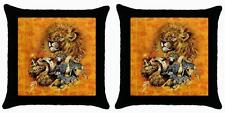 NEW SET OF 2 AFRICAN ANIMALS PILLOW CASE CUSHION COVERS LOUNGE BEDROOM