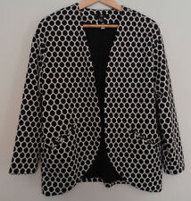 H&M Polka dot white black blazer jacket UK size Medium