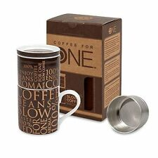 Kaffeebereiter mit Tasse Coffee for One dunkelbraun