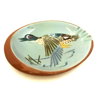 Stangl Pottery Blue-Winged Teal Duck Ashtray Man Cave Hunting Lodge Vintage USA