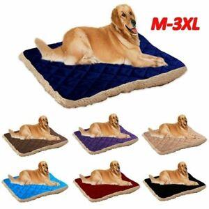 Soft Pet Dog Bed Cat Mat Plush Cushion Reversible Tear Resistant Washable M-XXL