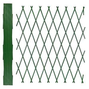 Expanding Green Plastic Wall Foldable Trellis Fence Climbing Plants Garden Decor