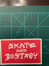 Skate And Destroy Skate Skateboard Sticker Laptop Cell Phone Decal Cb