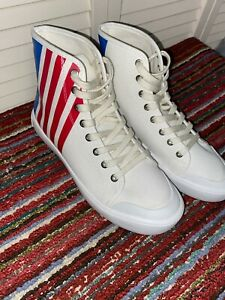 Calvin Klein Jeans Doran High-Top Sneakers Red,White & Blue Edition