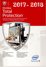 McAfee Total Protection 2017-2018 Internet Security 1 Jahr 1 PC UVP £ 12