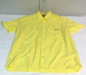 Under Armour Heat Gear Vented Button Up Short Sleeve Shirt XXL Your Pick