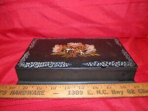 Occupied Japan Lacquerware Vanity,Jewelry or Trinket Box