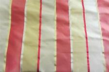 100% Pure Silk Spice Isles Ruby Satin Stripe Curtain fabric 1.3m