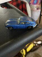 Vintage Yatming Jaguar E4.2 Loose Blue Free Shipping Not Hot Wheels Open