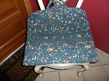 Vera Bradley garment bag retired Animal Kingdom pattern EUC