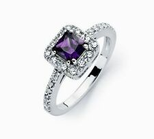 BGR00734/ 925 STERLING SILVER LADIES WEDDING RING/SZ 5-9 /  W/MAN MADE DIAMOND