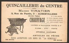 """AUBERVILLIERS (93) QUINCAILLERIE DU CENTRE """"VINATIER"""""""