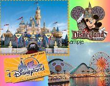 California - DISNEYLAND COLLAGE  Travel Souvenir Magnet
