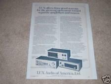 Luxman M-4000,T-310,C-1000 Pre,Amp, Tuner Ad 1975,Rare!