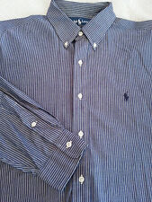 "POLO RALPH LAUREN Men's Sz 16 1/2 33 ""Yarmouth"" Long Sleeve Shirt Gray Pinstripe"