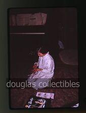 1963 35mm Kodachrome Photo slide Girl with vintage barbie doll piano