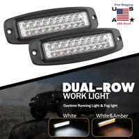 18W 7inch Spot LED Slim Flood Light Bar Work Lamp Driving Offroad SUV ATV Truck