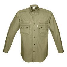 Tag Safari Bush Shirt for Men Long Sleeve