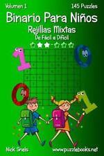 Binario para Niños: Binario para niños Rejillas Mixtas - de Fácil a Difícil -...