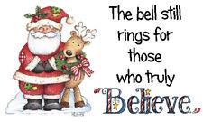 BELIEVE IN THE MAGIC BELL LABELS x 42 -  Santa Cute Reindeer -  🎅Christmas
