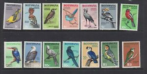 BOTSWANA 1967 BIRDS MNH SET OF STAMPS