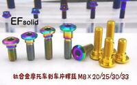 6Pcs M8 × 20-33mm Titanium Alloy Motorcycle Brake Disc Wheel Mount Bolts Screw