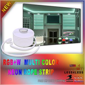 110V - 120V Professional Grade Led Neon Rope Lights RGB+W Flexible waterproofed