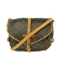 LOUIS VUITTON Monogram Saumur 30 Shoulder Bag M42256 LV Auth pg1358
