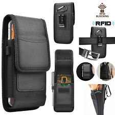 Vertical Nylon Wallet Case Holster Pouch with Belt Clip Loop For iPhone Samsung
