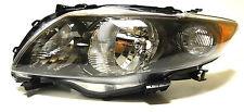 Toyota Corolla 2009-2013 Izquierda cabeza delante de la lámpara de iluminación para S/rs Modelos Negro Usa