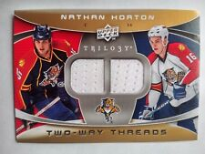 2008-09 Upper Deck Trilogy Nathan Horton Florida Panthers - Dual Jersey WHITE
