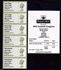Scarce UNDATED MACHIN 88th Scottish Congress Perth 2017 Post & Go
