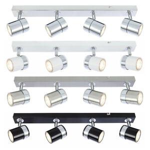 Metal 4 Way Adjustable LED Ceiling Lights Spotlight Fitting Kitchen Bar Lighting