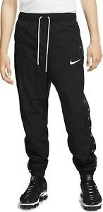 Nike NSW Swoosh Woven Logo Mens Bottoms Black Multi Size Sportswear Sweatpants