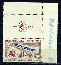 N° 1422 Philatec PARIS 1964 Neuf ** Coin de feuillet haut droit