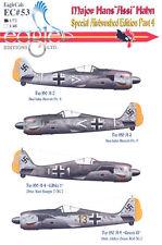 EagleCals Decals 1/72 Fw-190A MAJOR HANS ASSI HAHN Special Airbrushed Set Part 4