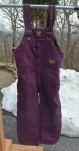 C.E. Schmidt Workwear Fit For Her Pink Insulated Bib Overalls Womens Small Short