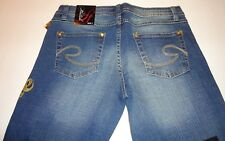SOUTHPOLE WOMEN'S STRETCH LOW RISE BOOT CUT FULL LENGTH BLUE JEANS SIZE 7