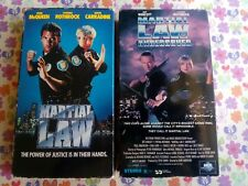 Martial Law (VHS) + Martial Law Undercover (VHS) Cynthia Rothrock