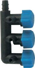 5 x 3-Weg Luftverteiler Lufthahn für 4/6 Luftschlauch Kunststoff