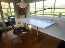 Schreibtisch USM Haller KITOS Gestell+neue Platte Lampert Eiermann weiß