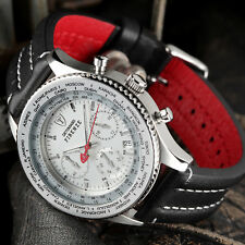 DETOMASO Firenze Mens Wrist Watch Chronograph Stainless Steel Silver Sport New