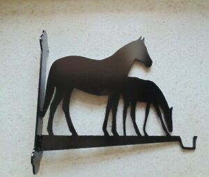 Gift idea ,Hanging basket hook on fixing frame Mare and foal