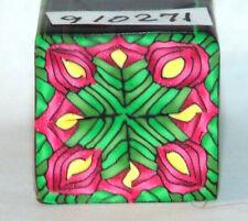 "polymer clay cane, raw, square, Kato, Premo # 910271  7/8"" x 1 5/8"" 1 ounce"