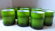 NEW Set Of 10 World Market Green Bamboo Style Plastic Acrylic Low Ball Drinkware