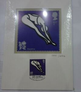 JULIAN OPIE LONDON 2012 OLYMPIC AQUATICS PRINT AND STAMP LIMITED EDITION